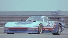 1983. Mustang on the Dearborn Test Track.